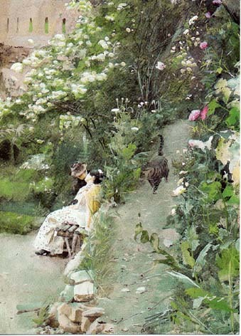 centuriespast:  Anders Zorn, In Alhambra Park, 1887  the Zorn Museum