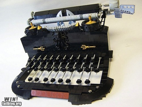 Epic Win-Lego Typewriter