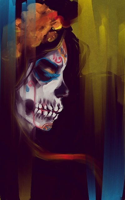 artforadults:  Skeleton chick by maahu