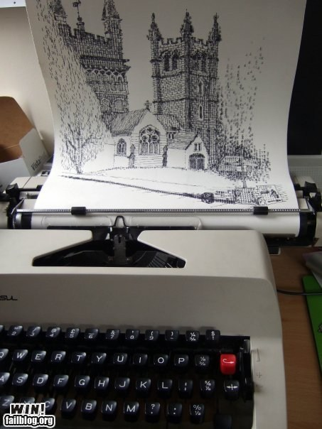 Epic Win-Typewriter Art