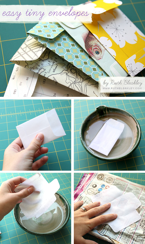 tutorializer:  Make your own mini envelopes - tutorial & pattern ideas (via poppytalk: Tutorial: Easy Tiny Envelopes)