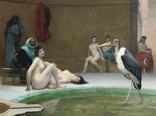 "Jean-Léon Gérôme (French, 1824-1904), ""Le Marabout in the Harem bath"" by sofi01 on Flickr."