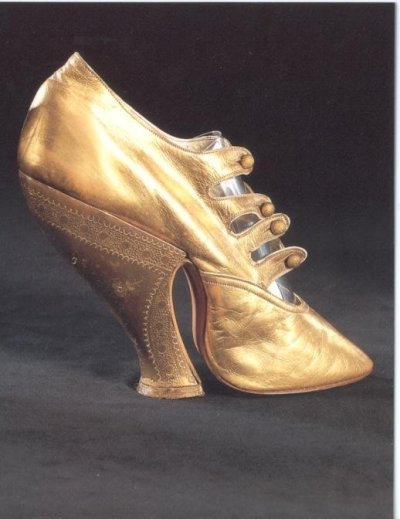 Golden Victorian Shoe