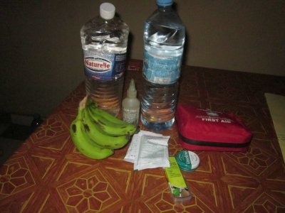 Enough bananas and water to get me to Janjangbureh? check. Oral Rehydration Salts? check. First aid kit? Check. Vaseline? Check. Oil and punction repair kit? Check.Ready to start a 370km bike ride for RSOD? Check!