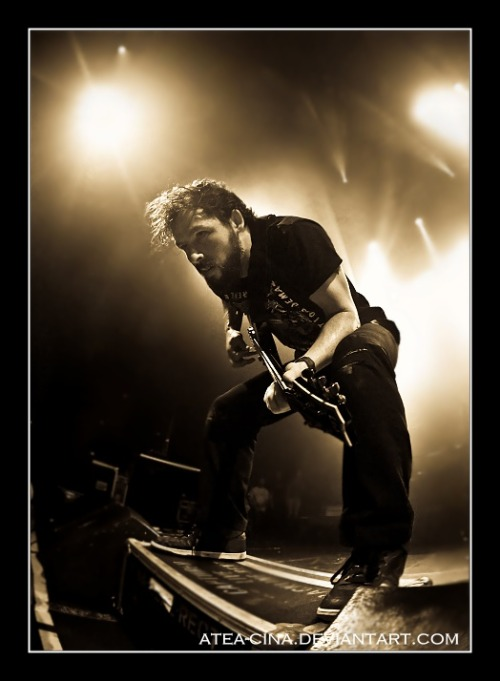 theghostofgrace:  Ben Weinman @ The Dillinger Escape Plan Photography by Atea-cinA