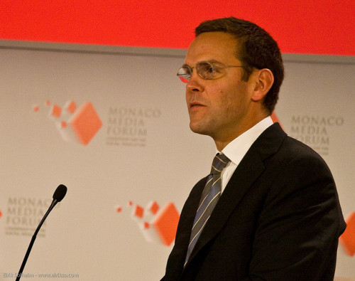Phone-hacking scandal: James Murdoch (partially) resigns Down goes Murdoch (sort of): News broke this morning that James Murdoch, the son of media magnate Rupert and the most prominent News Corp figure embroiled in the phone hacking scandal, would resign as director of the board of News International's UK newspapers. He is not, however, entirely out in the cold. He's still the deputy COO of the entire News Corp empire, which begs the question — when you have to start resigning jobs due to legal trouble and popular outrage, don't most normal people lose the highest profile one first? Murdoch ascended to the deputy COO position earlier this year, and was thought to be the looming successor to his father atop the News Corp empire. That certainly can't happen now, can it? (Photo by Eirik Solheim) source Follow ShortFormBlog