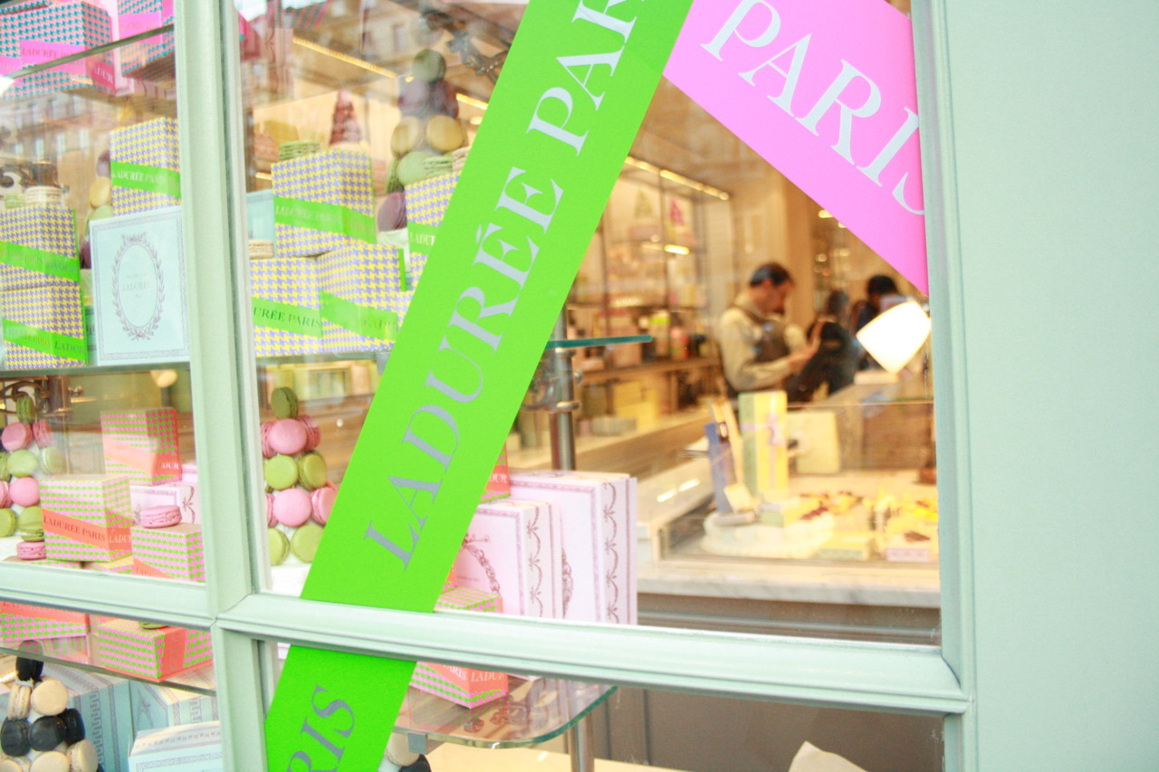 And the window to actual candyland: Laduree on the Rue Royale, Paris