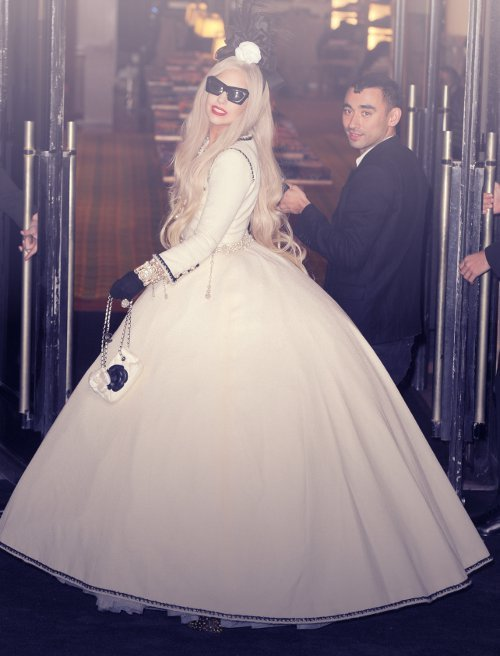 We loved Lady Gaga's outfit for the opening of Gaga's Workshop this past Monday. Don't you?