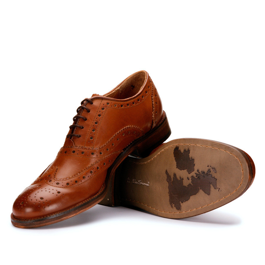 FOOTWEAR | Ben Sherman Tan Arista Brogues