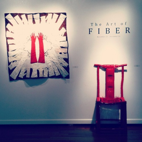 The Art of Fiber is up! #art #gallery #fiberart  (Taken with Instagram at Workhouse Arts Center)