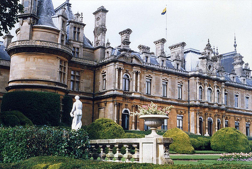 | ♕ |  Waddesdon Manor, Rear Elevation  | by bestfor / richard  via sarcastical | keepin-it-classic