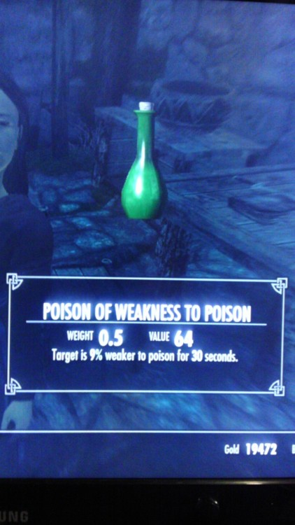 skyrimgonewrong:  I'll put this in my pocket right next to my Health Potion of Health.