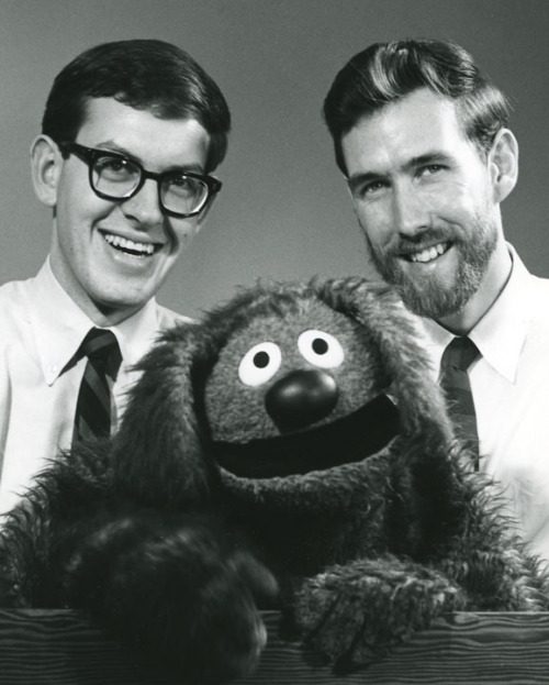Frank Oz, Jim Henson and Rowlf