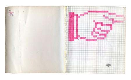 "The Sketchbook of Susan Kare, the Artist Who Gave Computing a Human Face   The genius of Steve Jobs, Jef Raskin, and the rest of the Mac team was recognizing a huge untapped market for home computing among artists, musicians, writers, and other creative weirdos who might never have cared enough to master the arcane complexities of a command-line UI or blow a fortune on hulking digital workstations. The challenge of designing a personal computer that ""the rest of us"" would not only buy, but fall crazy in love with, however, required input from the kind of people who might some day be convinced to try using a Mac. Fittingly, one of the team's most auspicious early hires was a young artist herself: Susan Kare."