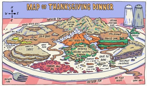 A map of Thanksgiving