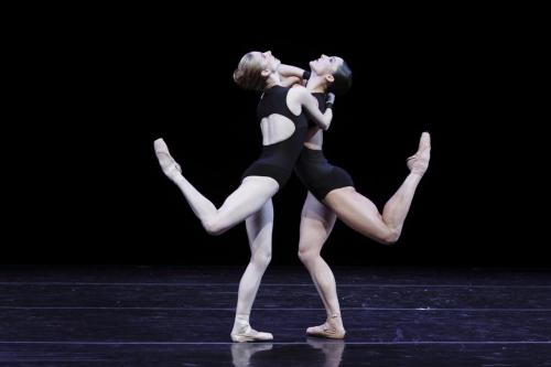 Michele Wiles and Drew Jacoby performing with Ballet Next dancing Mauro Bigonzetti's La Follia.