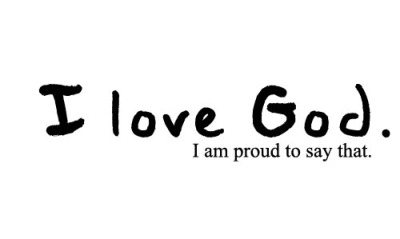 "Reblog if you're proud to say ""I LOVE GOD."" :)"