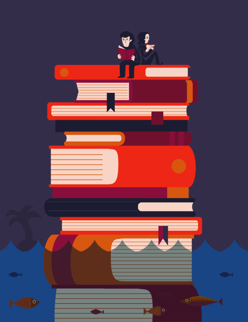 Stranded on an island of books…