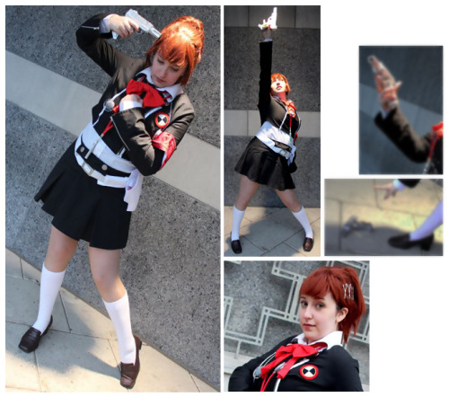 "Female MC ""Hamuko/Minako Arisato"" - Persona 3 Portable Cosplayer: UnaSpi * * * Photographer: Iggie * * * why does this character have no canon name GOSH"
