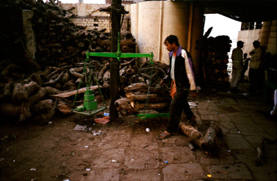 untitled on Flickr.Scales for cremation wood in Varanasi.