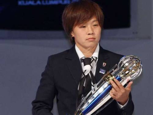 Aya Miyama has been chosen as Asia's footballer of the year.