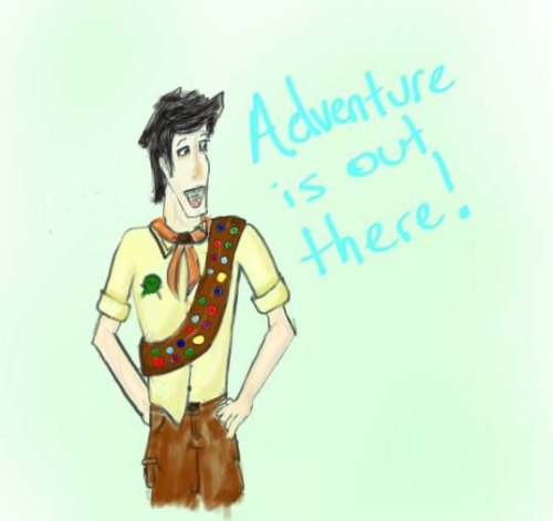 I don't know why, but I keep imagining Jake as an Adventure Scout from Up. I think him and Russell would be best friends.