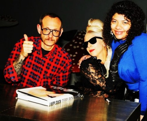 me meeting Terry Richardson and Gaga ♥
