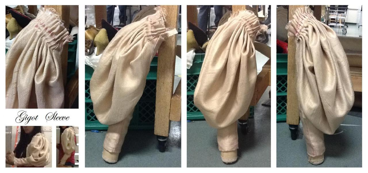 Here's a gigot (leg-of-mutton) sleeve I made in costume construction class. It's huge and poofy and…huge. You have to pleat it because there's so much fabric, ha ha. The semester is winding down so I haven't had much time to draw. It's Thanksgiving break, though! I hope everyone gets some rest and some good food inside them. ♥
