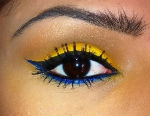 Accent winged liner with traffic stopping colors - just like Beautylish Beauty Monique V.!
