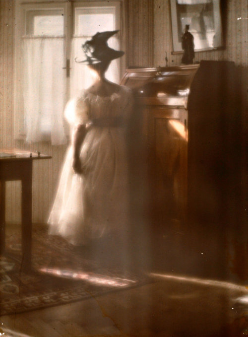 Heinrich Kühn. Mary Warner Against the light, 1908