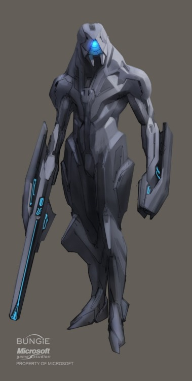 wesleykangboy:  Forerunner concept art for Halo 4.