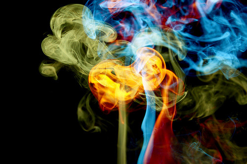 The multicolor of smoke…