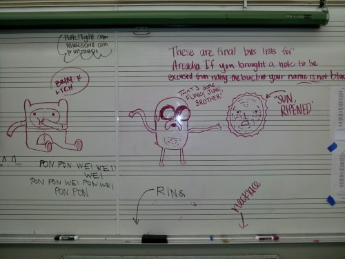 Band room board.