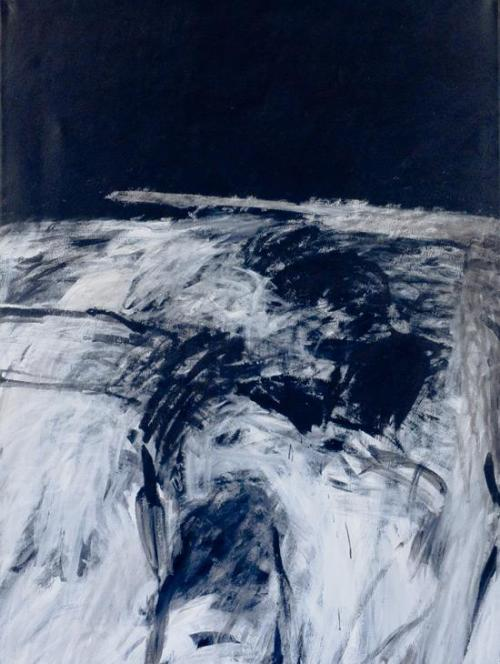 justanothermasterpiece:  Farid Haddad, Untitled, 1983 Painting Acrylic and vinyl emulsion on canvas   72 x 54 inches.
