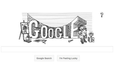 Stanislaw Lem Google UK doodle via guardian.co.uk