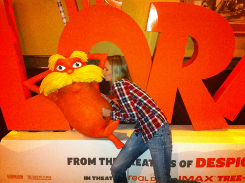 I met a Lorax and kissed him on the moos-tash