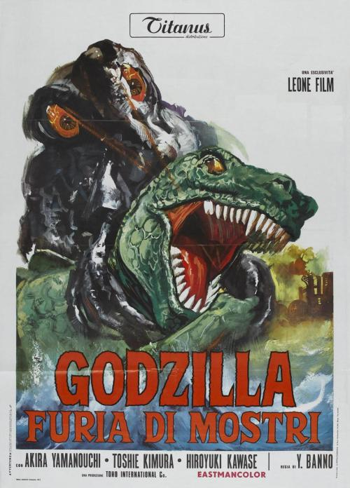 Italian poster for Godzilla Vs The Smog Monster (1971)
