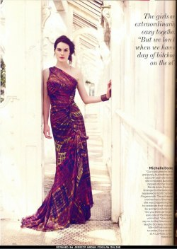 "Michelle Dockery in Vogue UK, August 2011 ""We love it when we have a day of bitching on the set."" As do I! Now come back please:("