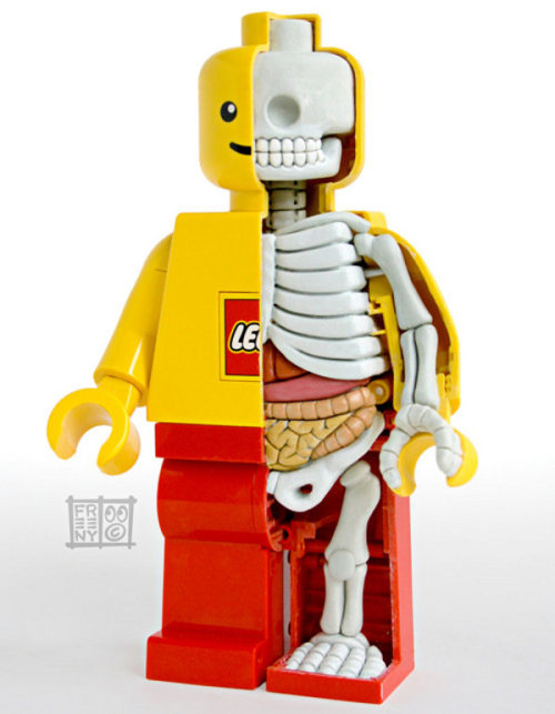 Lego man skeleton.