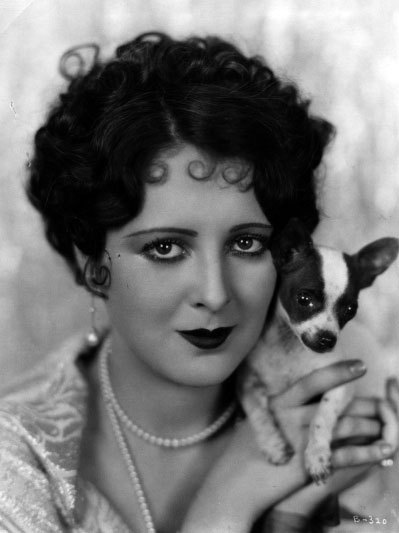 Billie Dove and her dog.