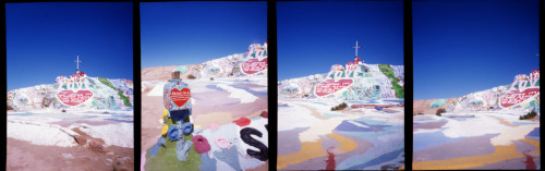 Salton Sea Salvation Mountain On Fuji Provia 100F + Golden Half, half frame camera