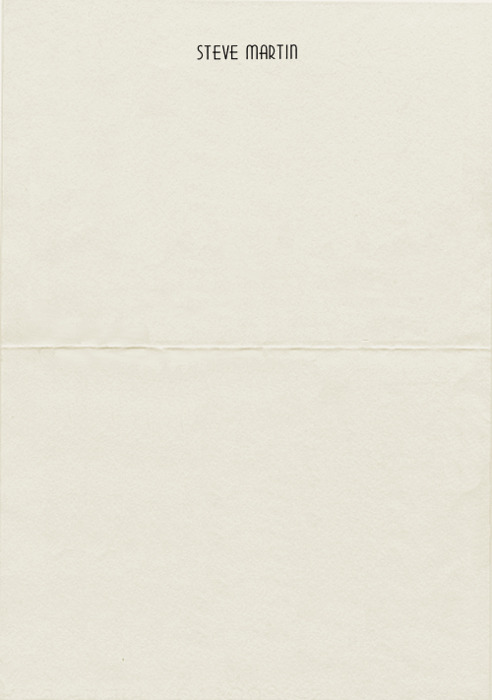 letterheady:  Steve Martin, 1989 | From the Collection of John Frisk