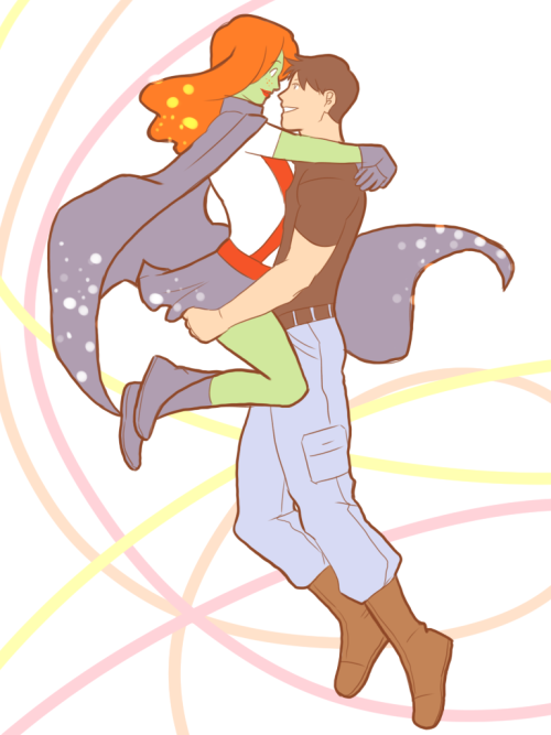 colours07:  Anon requested: M'gann and Connor (Young Justice)