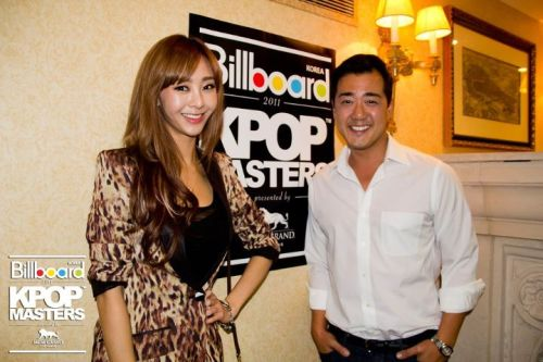 G.NA and Richard Choo (KPMA co-founder CMO) at the Kpop Master's press junket