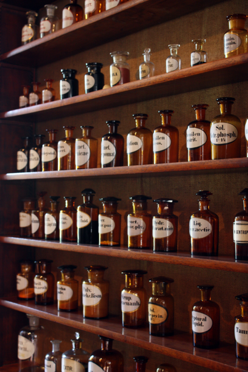 "ancient-serpent:  ""Apothecary"" by photojennic The amazing collection of historical apothecaries at the Bergisches Museum in Schloss Burg, Burg an der Wupper, Germany"