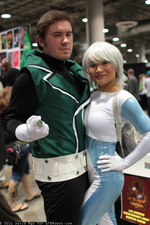 Guy Gardner and Ice Cosplay at Comikaze 2011. Photo by David Ngo. (Source)