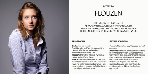Flouzen Interview Part 1 View our Flouzen selection