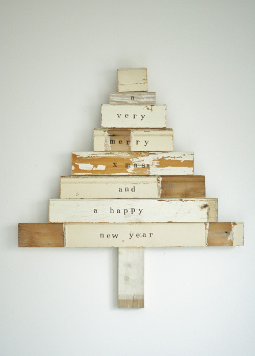 scrapwood x-mas tree | the style files