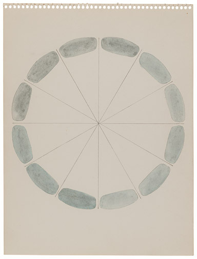 berndwuersching:  Richard TuttleAny Grey, 1972Graphite and watercolor on paper, 11 7/8 x 8 7/8 inches