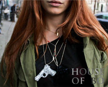 lisalouisecharlotte:  GUNS NECKLACE by HOUSE OF BÓ